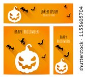 happy halloween vector ... | Shutterstock .eps vector #1155605704