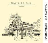 tiruchirappalli  trichy   tamil ... | Shutterstock .eps vector #1155605947