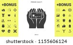 hands holding credit card   icon | Shutterstock .eps vector #1155606124