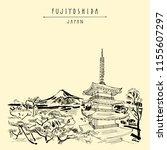 fujiyoshida  japan  asia. mount ... | Shutterstock .eps vector #1155607297