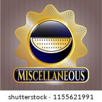 gold badge with watermelon... | Shutterstock .eps vector #1155621991