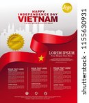 Happy Independence Day Vietnam background template for a poster, leaflet, brochure and other user
