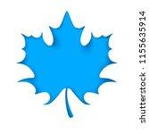leaf cut origami  blue... | Shutterstock .eps vector #1155635914
