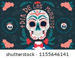 day of the dead poster with... | Shutterstock .eps vector #1155646141