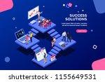 isometric analysis  data... | Shutterstock .eps vector #1155649531