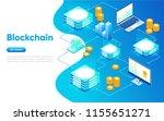 blockchain modern flat design... | Shutterstock .eps vector #1155651271