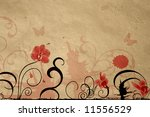 illustration of orchids on... | Shutterstock . vector #11556529