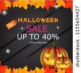 halloween sale. vector... | Shutterstock .eps vector #1155654427