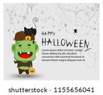 happy halloween party trick or... | Shutterstock .eps vector #1155656041