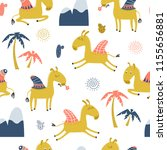 seamless pattern with funny... | Shutterstock .eps vector #1155656881