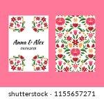 vintage flowers wedding save... | Shutterstock .eps vector #1155657271