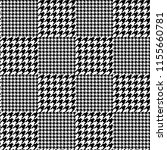 houndstooth seamless black and... | Shutterstock . vector #1155660781