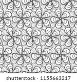 abstract vector seamless floral ... | Shutterstock .eps vector #1155663217