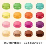 collection of colored french... | Shutterstock . vector #1155664984