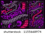 vector illustration of snake... | Shutterstock .eps vector #1155668974