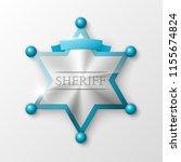 wild west sheriff metal gold... | Shutterstock .eps vector #1155674824