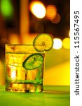 gin tonic coctail with colorful ... | Shutterstock . vector #115567495