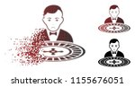 unhappy roulette dealer icon in ... | Shutterstock .eps vector #1155676051