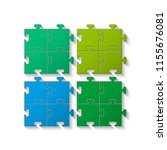 four sided puzzle presentation. ...   Shutterstock .eps vector #1155676081