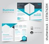 business bi fold brochure or... | Shutterstock .eps vector #1155676204