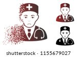 sadly physician icon in sparkle ... | Shutterstock .eps vector #1155679027