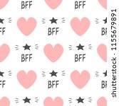cute seamless pattern with... | Shutterstock .eps vector #1155679891
