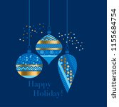 Gold And Blue Bauble Xmas...