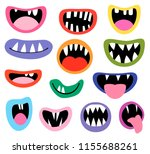 funny vector monster mouths ...