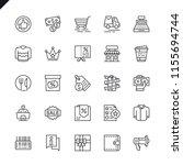 thin line shopping malls ... | Shutterstock .eps vector #1155694744