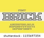 Brick Font. Vector Alphabet...
