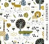 safari animals seamless pattern ... | Shutterstock .eps vector #1155698374