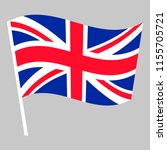 flag of great britain waving on ... | Shutterstock .eps vector #1155705721