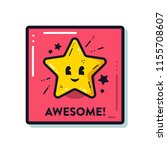 teacher reward sticker for... | Shutterstock .eps vector #1155708607