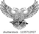 two head eagle for majestic | Shutterstock .eps vector #1155712927