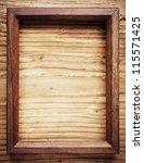 Old Wooden Frame On Wood...