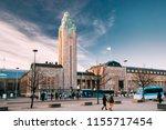 helsinki  finland. view of... | Shutterstock . vector #1155717454