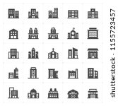 icon set   building filled icon ... | Shutterstock .eps vector #1155723457