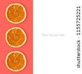orange slices on the pink... | Shutterstock . vector #1155725221