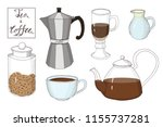 tea time collection  coffee cup ... | Shutterstock .eps vector #1155737281
