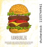 huge hamburger isolated on...   Shutterstock .eps vector #1155744961
