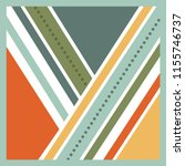 colorful modern scarf pattern... | Shutterstock .eps vector #1155746737