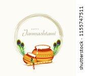 happy janmashtami design... | Shutterstock .eps vector #1155747511