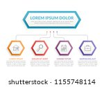 infographic template with... | Shutterstock .eps vector #1155748114