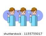 finger of man injured wound... | Shutterstock .eps vector #1155755017