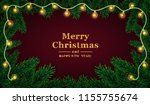 christmas background with fir... | Shutterstock .eps vector #1155755674