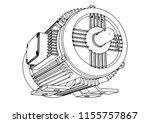 outline electric motor vector    Shutterstock .eps vector #1155757867