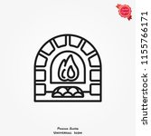 oven  fireplace icon vector ... | Shutterstock .eps vector #1155766171