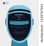artificial intelligence ai... | Shutterstock .eps vector #1155767641