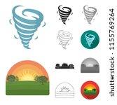 different weather cartoon black ... | Shutterstock .eps vector #1155769264
