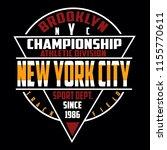 brooklyn new york sport... | Shutterstock .eps vector #1155770611